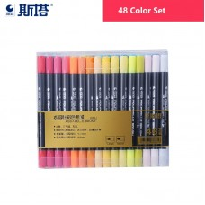STA 48 Colours Watercolor Brush Pens Dual Tip Paint Markers
